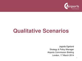 Qualitative Scenarios