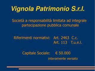 Vignola Patrimonio S.r.l.