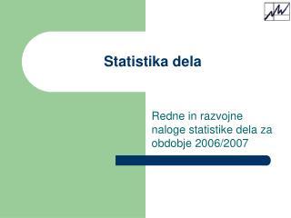 Statistika dela