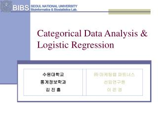 Categorical Data Analysis &  Logistic Regression