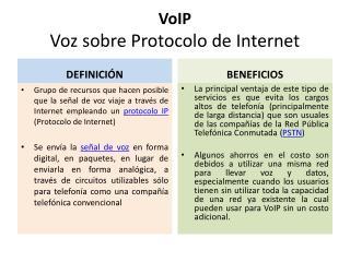 VoIP Voz sobre Protocolo de Internet