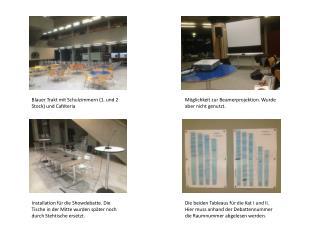 Blauer Trakt mit  Schulzimmern (1. und 2 Stock) und  Caféteria
