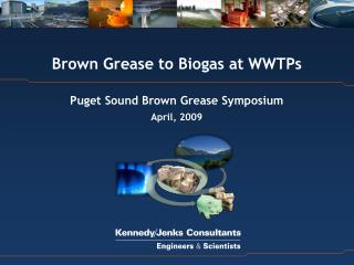 Brown Grease to Biogas at WWTPs