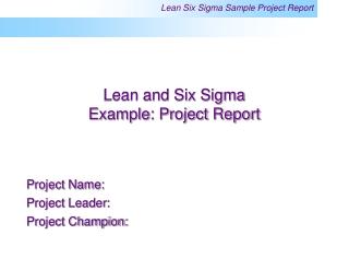 6 Sigma - Measure Cause  Effect Diagram