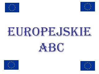 Europejskie ABC
