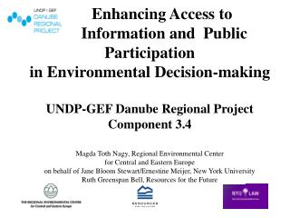 Reinforce Public Participation Provisions of WFD, other EU Directives and Aarhus Convention