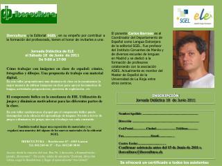 INSCRIPCIÓN Jornada Didáctica 18  de Junio 2011