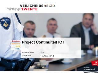 Project Continuïteit ICT