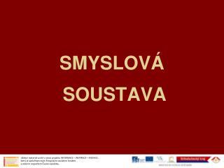 SMYSLOVÁ  SOUSTAVA