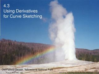 4.3Using Derivatives for Curve Sketching