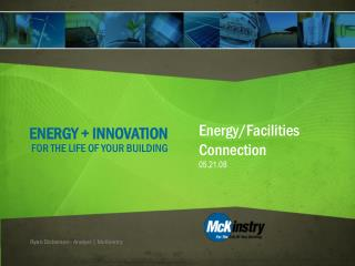 ENERGY + INNOVATION