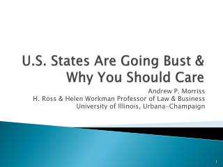 U.S. States Are Going Bust & Why You Should Care