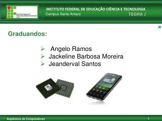 Graduandos: Angelo Ramos     Jackeline Barbosa Moreira    Jeanderval Santos
