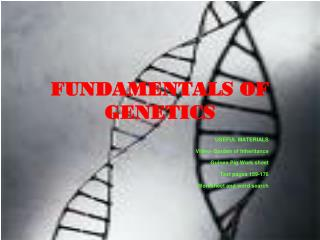 FUNDAMENTALS OF GENETICS