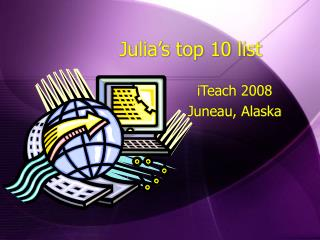 Julia's top 10 list