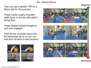 Abs - Barbell Rollouts