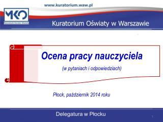 Płock, październik 2014 roku