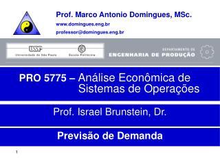 PRO 5775 –  Análise Econômica de Sistemas de Operações