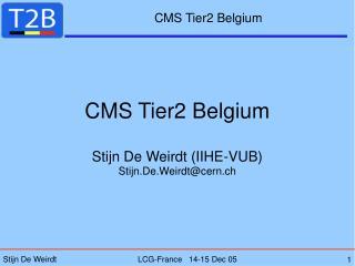 CMS Tier2 Belgium