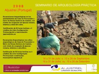 SEMINARIO DE ARQUEOLOGÍA PRÁCTICA