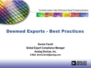 Deemed Exports - Best Practices