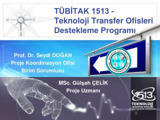 TÜBİTAK  1513 -  Teknoloji  Transfer Ofisleri Destekleme  Programı
