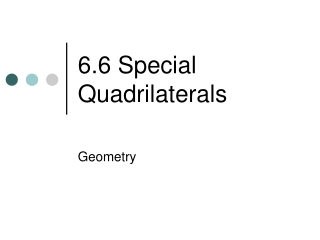 Quadrilaterals.
