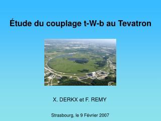 �tude du couplage t-W-b au Tevatron