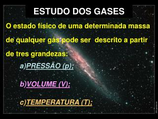ESTUDO DOS  GASES