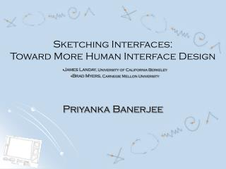 Sketching Interfaces: