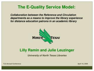 The E-Quality Service Model: