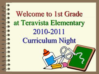 Welcome to 1st Grade at Teravista Elementary 2010-2011 Curriculum Night