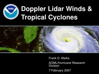Doppler Lidar Winds & Tropical Cyclones