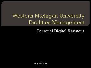 Western Michigan University Facilities Management