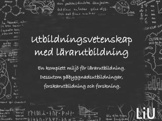 Utbildningsvetenskap med lärarutbildning