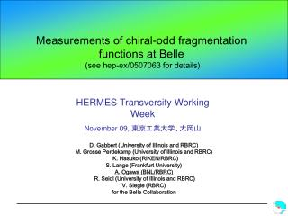 Measurements of chiral-odd fragmentation functions at Belle