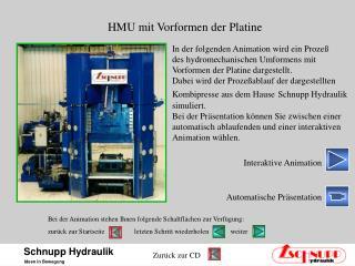 HMU mit Vorformen der Platine