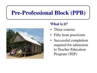 Pre-Professional Block (PPB)
