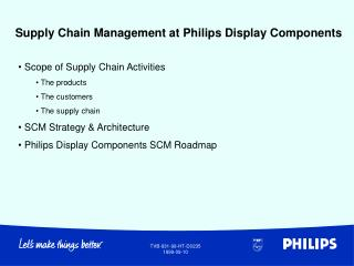 Supply Chain Management at Philips Display Components