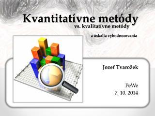 Kvantitatívne metódy