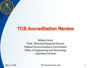 TCB Accreditation Review