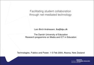 Facilitating student collaboration through net-mediated technology