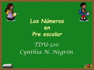 Los N�meros  en  Pre escolar