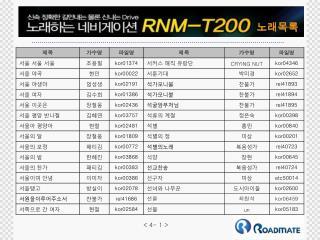 RNM-T200 노래목록4(1-50)