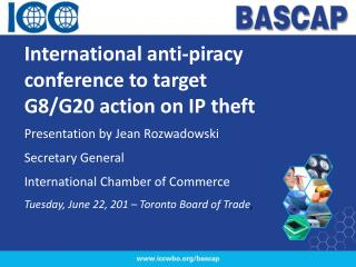 International anti-piracy conference to target G8/G20 action on IP theft