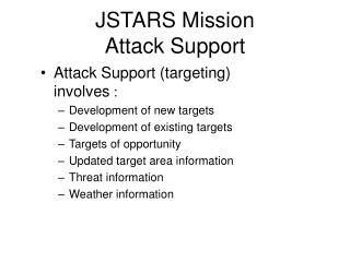 JSTARS Mission  Attack Support