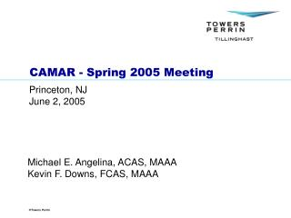 CAMAR - Spring 2005 Meeting