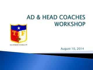 AD & HEAD COACHES WORKSHOP
