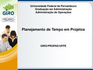 Universidade Federal de Pernambuco Gradua��o em Administra��o Administra��o de Opera��es