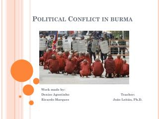 Political Conflict in burma
